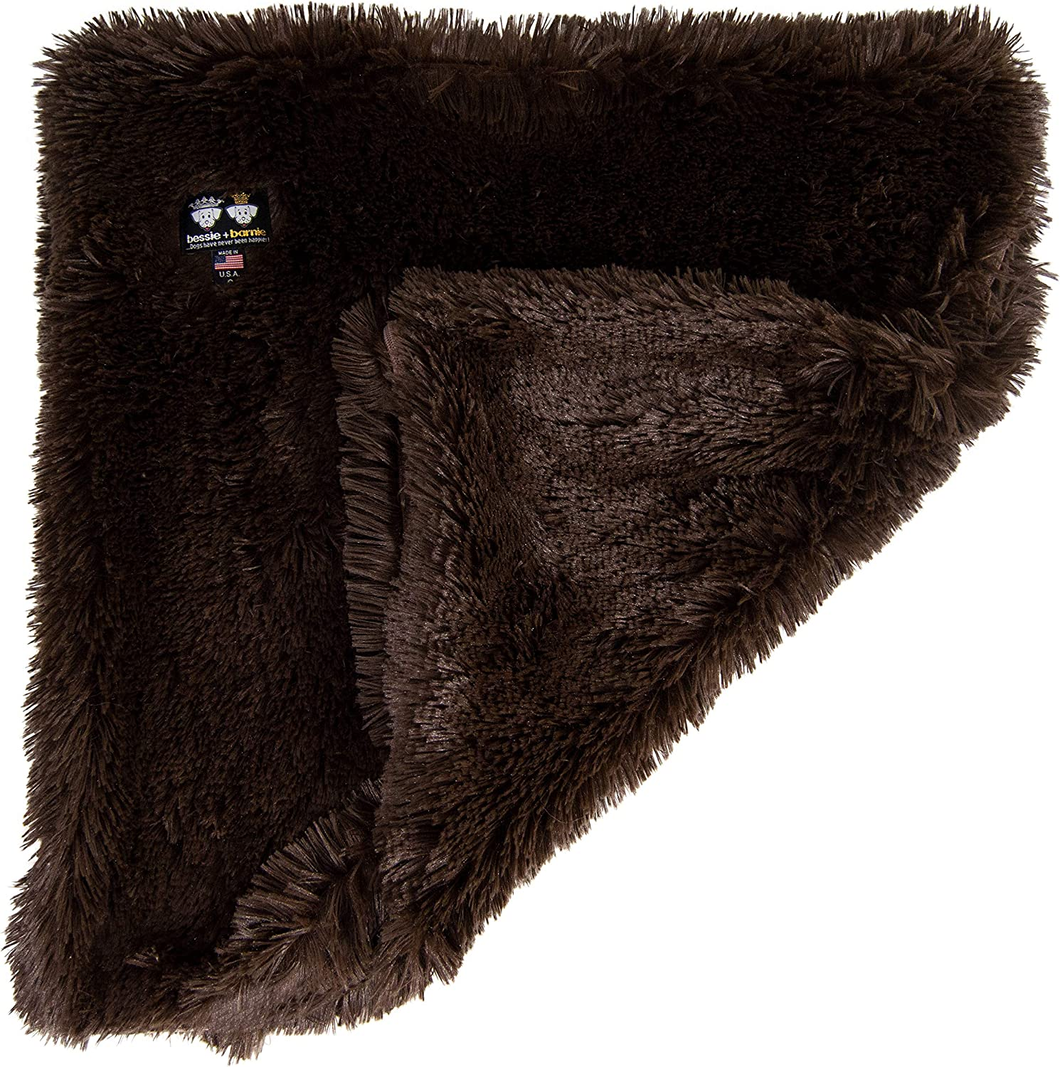 Bessie and Barnie Frosted Willow Luxury Shag Ultra Plush Faux Fur Pet Dog Puppy Super Soft Reversible Blanket Cat Multiple Sizes