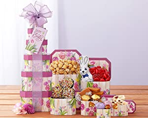 Springtime Easter Gift Tower by Wine Country Gift Baskets