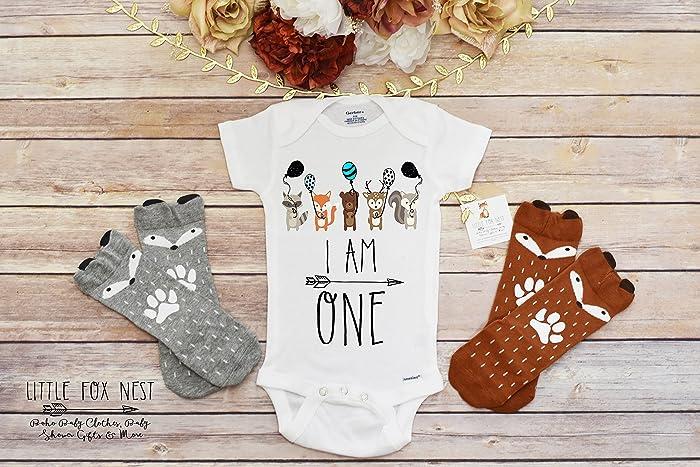 417662ba Amazon.com: First Birthday Boy, Woodland Birthday, Wild One Birthday, Fox  Onesie, Fox Shirt, Fox Gift, Baby Boy Onesie: Handmade