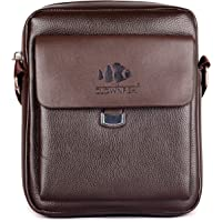 The Clownfish Polo Unisex Sling Bag for Travel, Sling Bag for Mens,Sling Bag for Women(Cedar Brown)
