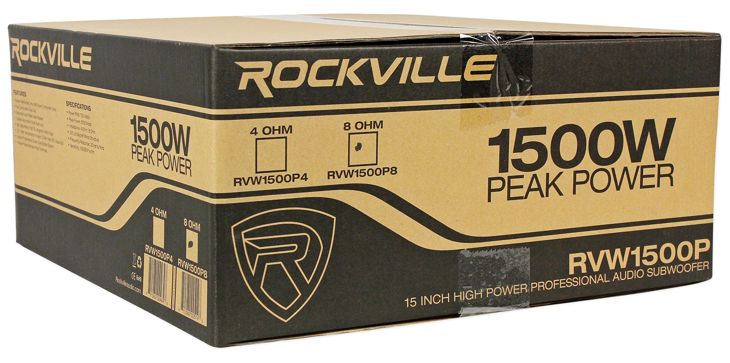 Rockville RVW1500P8 1500w 15'' Raw DJ Subwoofer 8 Ohm Sub Woofer 70OZ Magnet