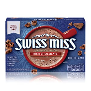 Swiss Miss Indulgent Collection Rich Chocolate Flavor Hot Cocoa Mix, 8 Count per pack, 10.64 Ounce per box, Pack of 12