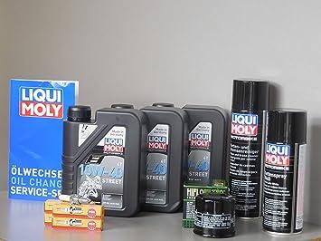 Juego de mantenimiento Honda CBR 600 F PC41 aceite de aceite Bujía Cadena Service Inspección: Amazon.es: Coche y moto