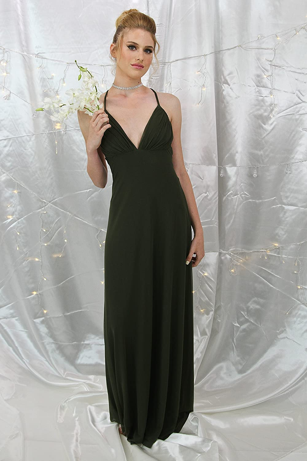 a1dc276bd31 Amazon.com  Handmade Women s Olive Green Evening Dress