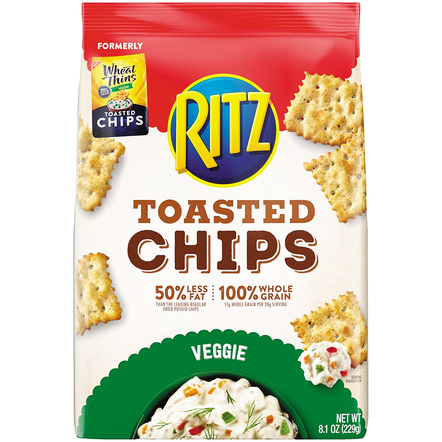 Wheat Thins Toasted Chips, Veggie, 8.1 oz