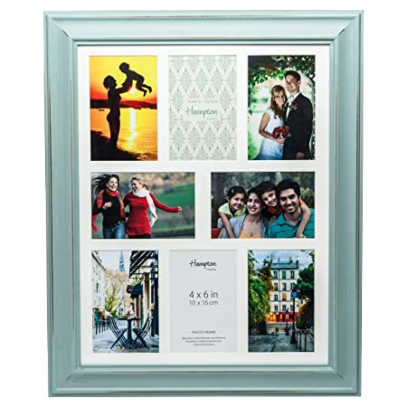 Erica Multi Aperture Photo Frames In Sage Green White in 4 Or 8 /& 10 Apertures