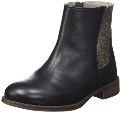 Kickers Vermillon, Bottines Chelsea Fille, Noir (Noir), 32 EU