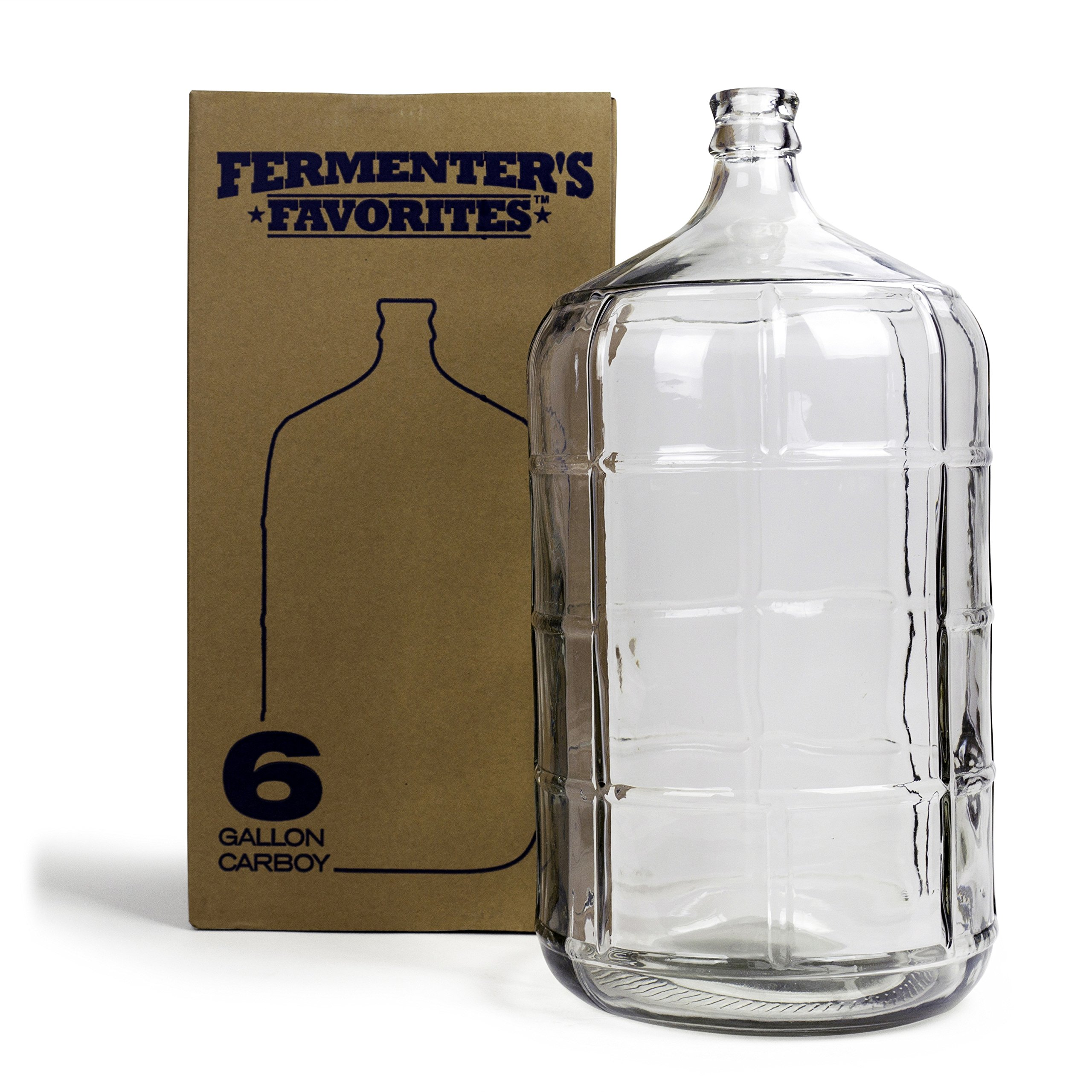 Northern Brewer - Fermenter's Favorites 6 Gallons Glass Carboy Fermenter For Fermentation Of Homebrew Beer Brewing, Wine Making, Mead And Hard Cider by Northern Brewer