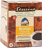 Teeccino Hazelnut Chicory Herbal Tea Bags, Caffeine Free, Acid Free, 10 Count (Pack of 4)