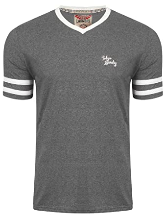 9e4c62c1b45 Tokyo Laundry Mens Beaver Lake Striped Short Sleeved V Neck T-Shirt   Amazon.co.uk  Clothing