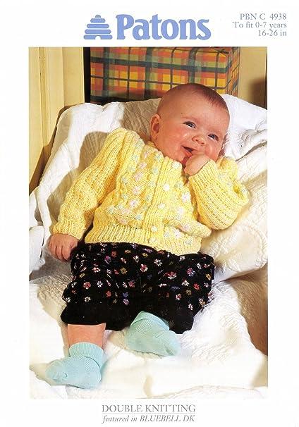 Amazon Baby Cardigan Knitting Pattern In Dk Yarn Sizes 16 26