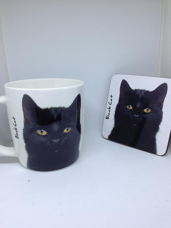 Black Cat Mug and coaster set