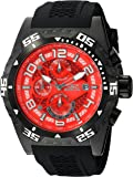 Invicta Men's 'Pro Diver' Quartz Stainless Steel and Silicone Casual Watch, Color:Black (Model: 24715)