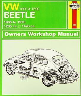 volkswagen beetle 1300 1500 owner s workshop manual service rh amazon co uk