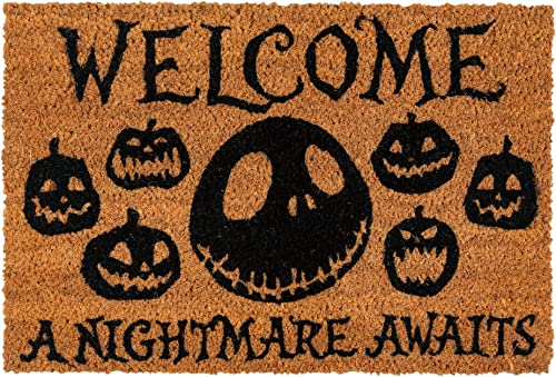 Merchandiseonline Nightmare Before Christmas – Door Floor Mat Size 24 x 16 Doormat A Nightmare Awaits
