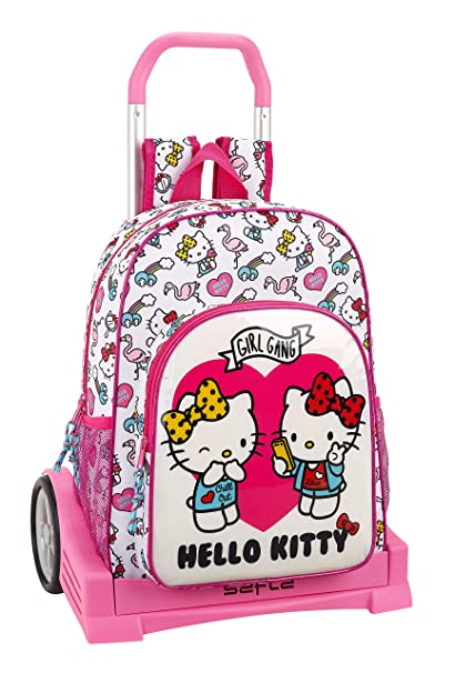 Hello Kitty Mochila Y Carro Color Rosa 42 cm 611816860: Amazon.es: Ropa y accesorios