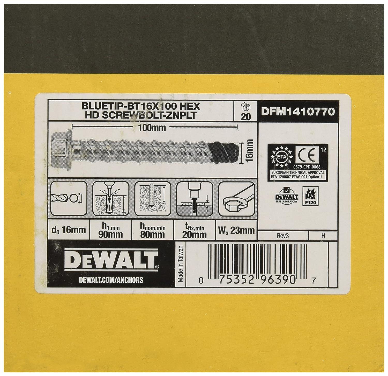 50Stk Dewalt DFM1410210 BT Betonschraube 8x75mm Sechskant