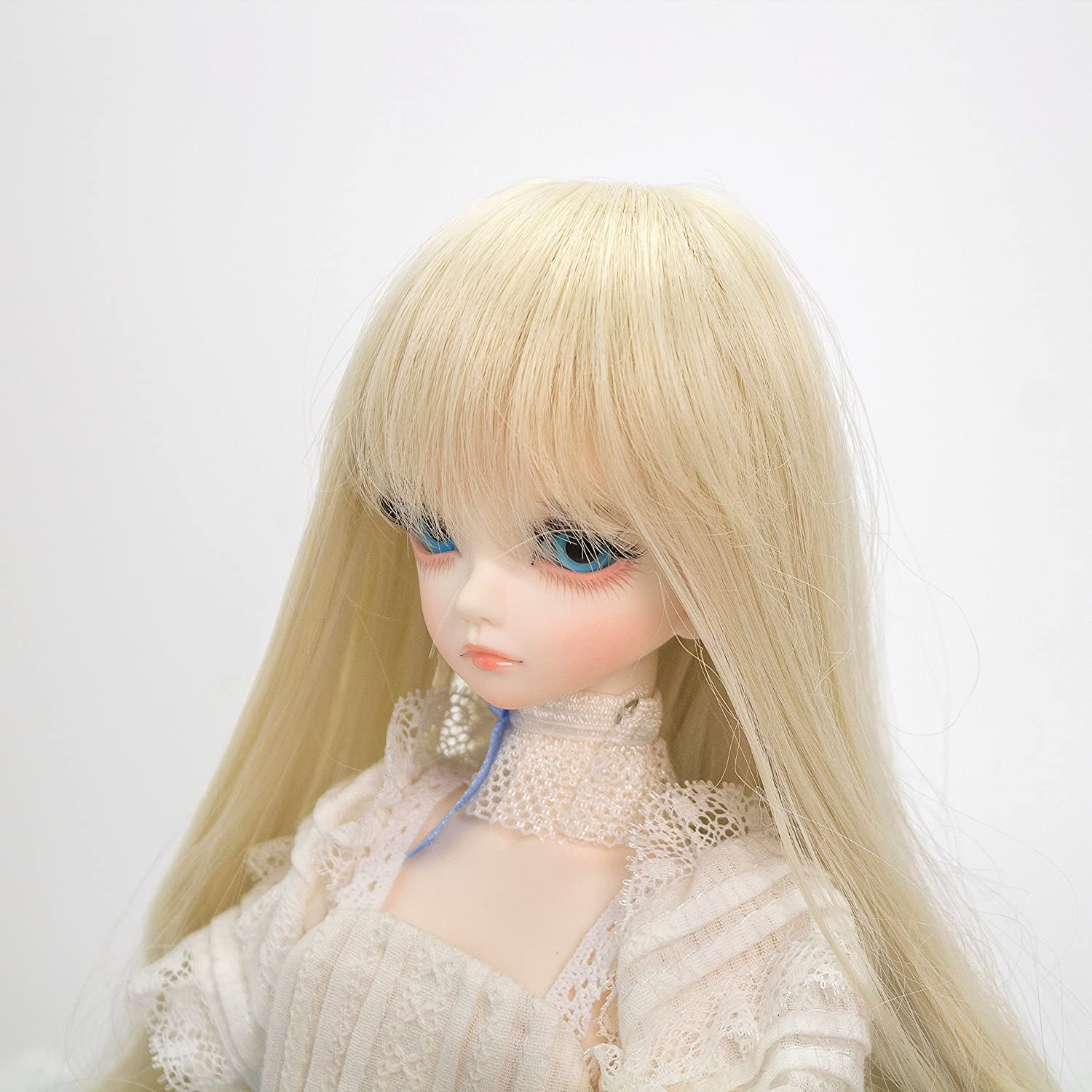 33# 1//3 BJD SD Doll Wig with 9-10 Inch BJD Doll Wig High Temperature Synthetic Fiber Long Dark Brown Curls Hair Wig BJD Doll Wigs for 1//3 BJD SD Doll