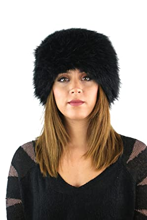 SHUZEE Ladies Womens Faux Fur Russian Style Cossack Winter HAT (Black) c0aa827846f