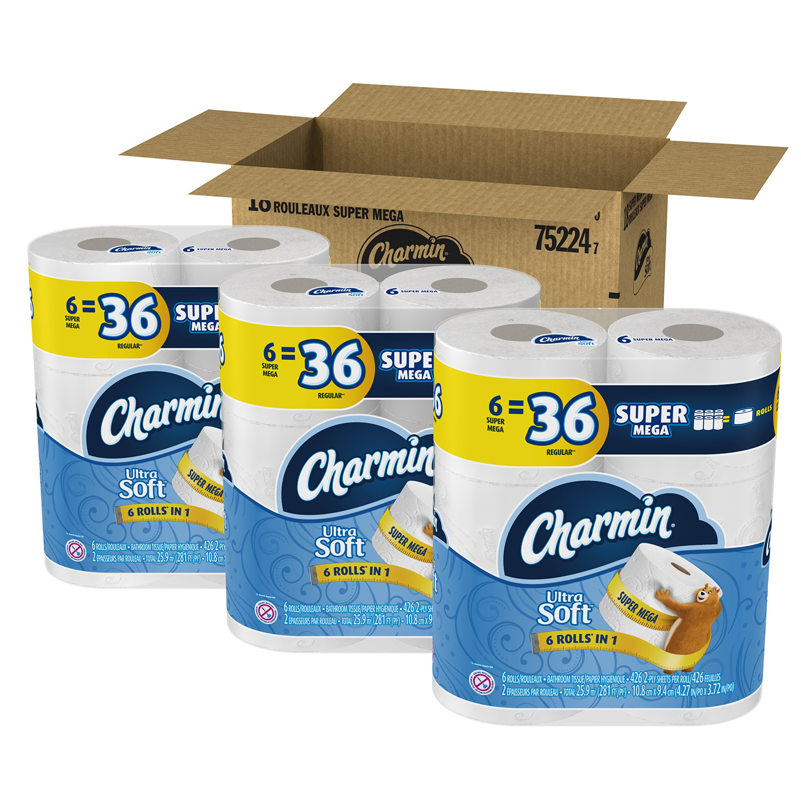 Amazon.com: Charmin Ultra Strong Clean Touch Toilet Paper ...