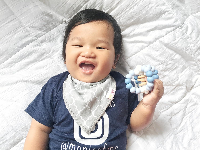 Blossoom Bandana Bibs Baby Boys Girls Organic Cotton Toddler Drool Bib