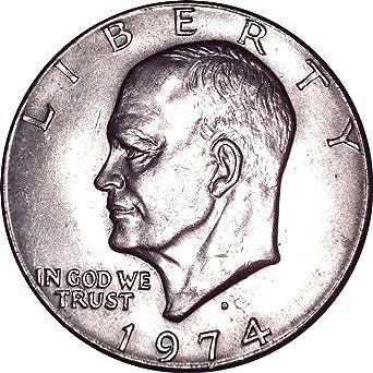 "1974 D Eisenhower Dollar /""Brilliant Uncirculated/"" US Mint Coin Ike BU"