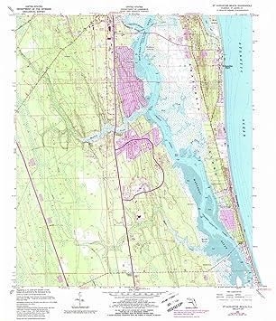 Amazon.com: Florida Maps | 1956 St. Augustine Beach, FL USGS ...