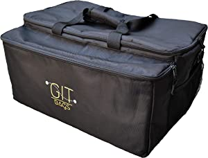 GIT Bags - Premium Large Insulated Food Delivery Bag with Insulated Drink Carrier, Keep Hot Food and Cold Drinks Separate, Durable Commercial Quality, 21.5 x 15 x 11 inches, Water Resistant