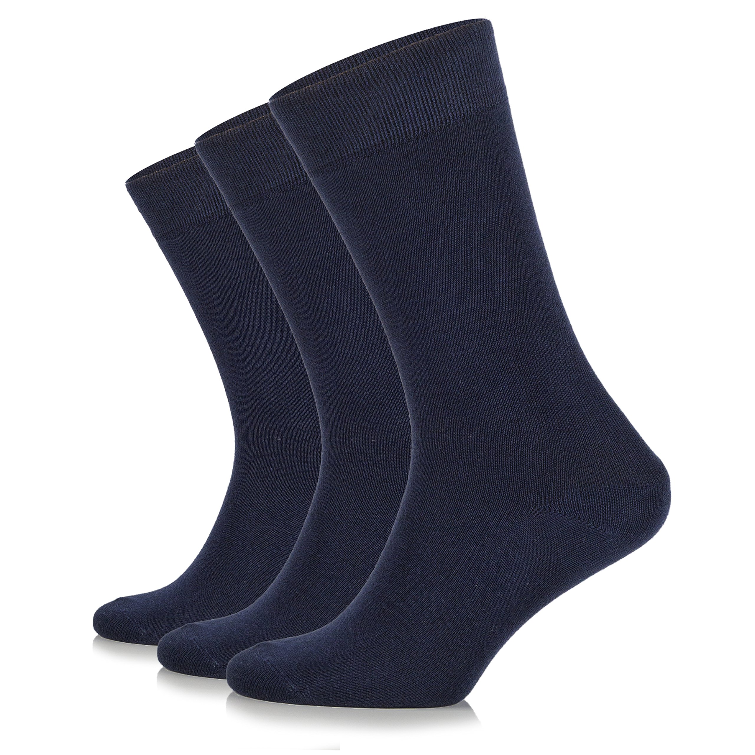 Junix Women's Bamboo Socks (Shoe Size:6-9, Navy)