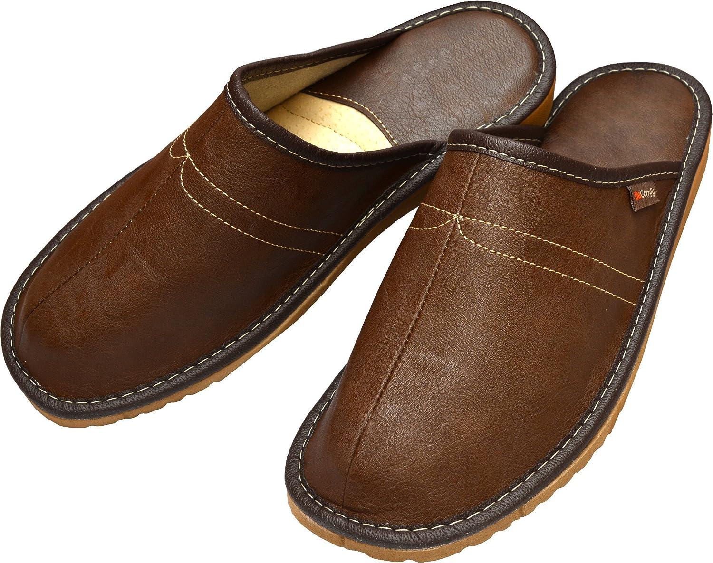BeComfy Chaussures en Cuir pour Homme Chaussons Mules Noir bo/îte /à Cadeau en Option Mod/èle