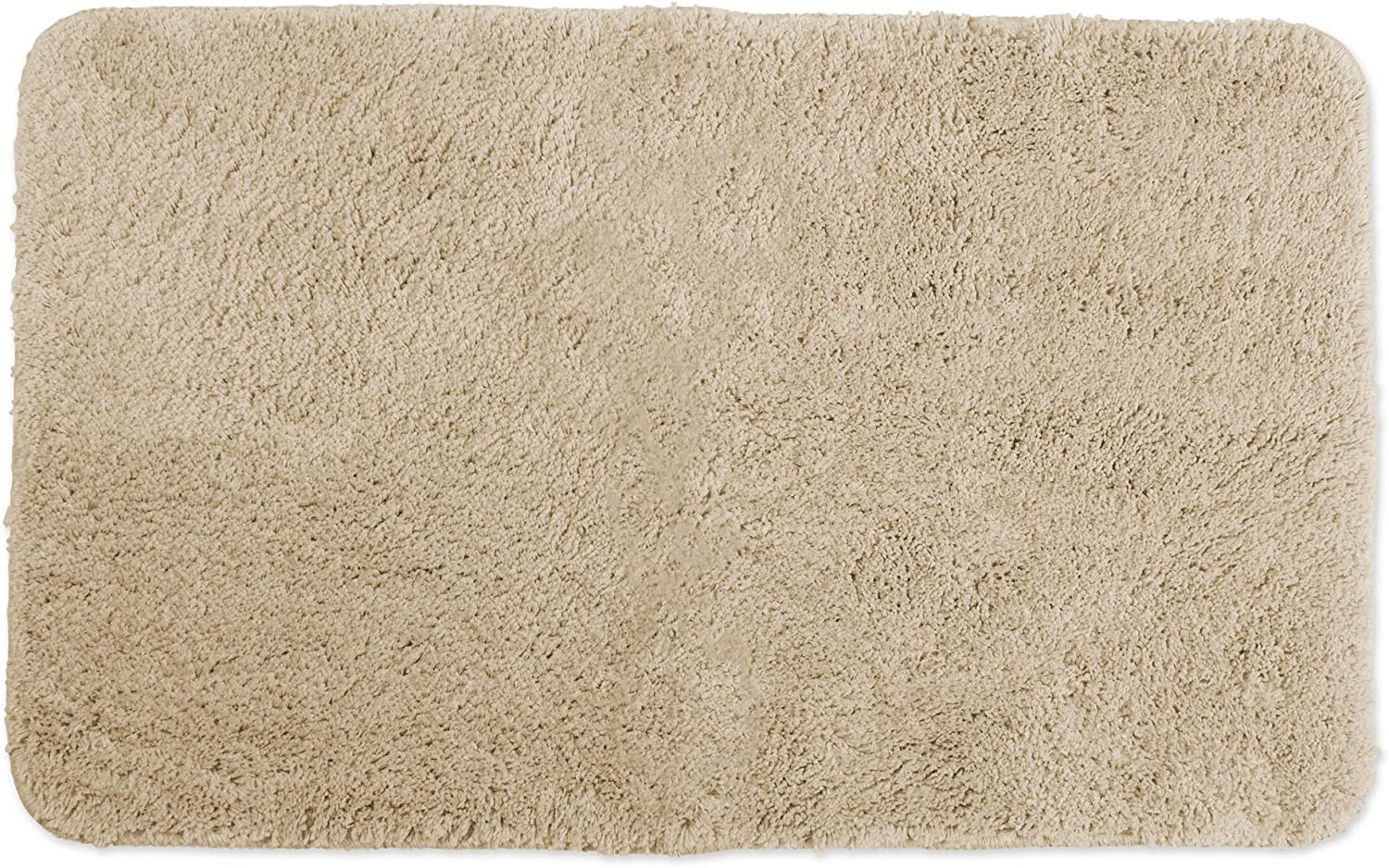 "Ultra Soft Absorbent Spa Microfiber Bath Rug, 24x40"", Machine Washable, Perfect Bath Mat for Shower, Vanity, Bath Tub, Sink, and Toilet-Pebble"