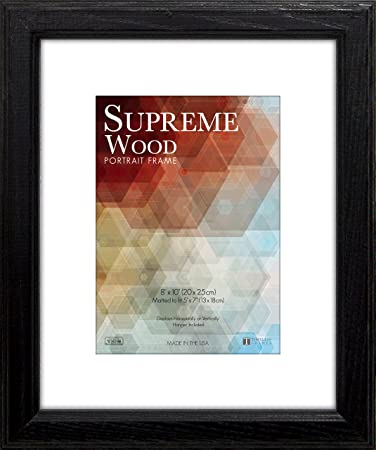 timeless frames 12x16 inch fits 9x12 inch photo supreme solid wood wall frame black
