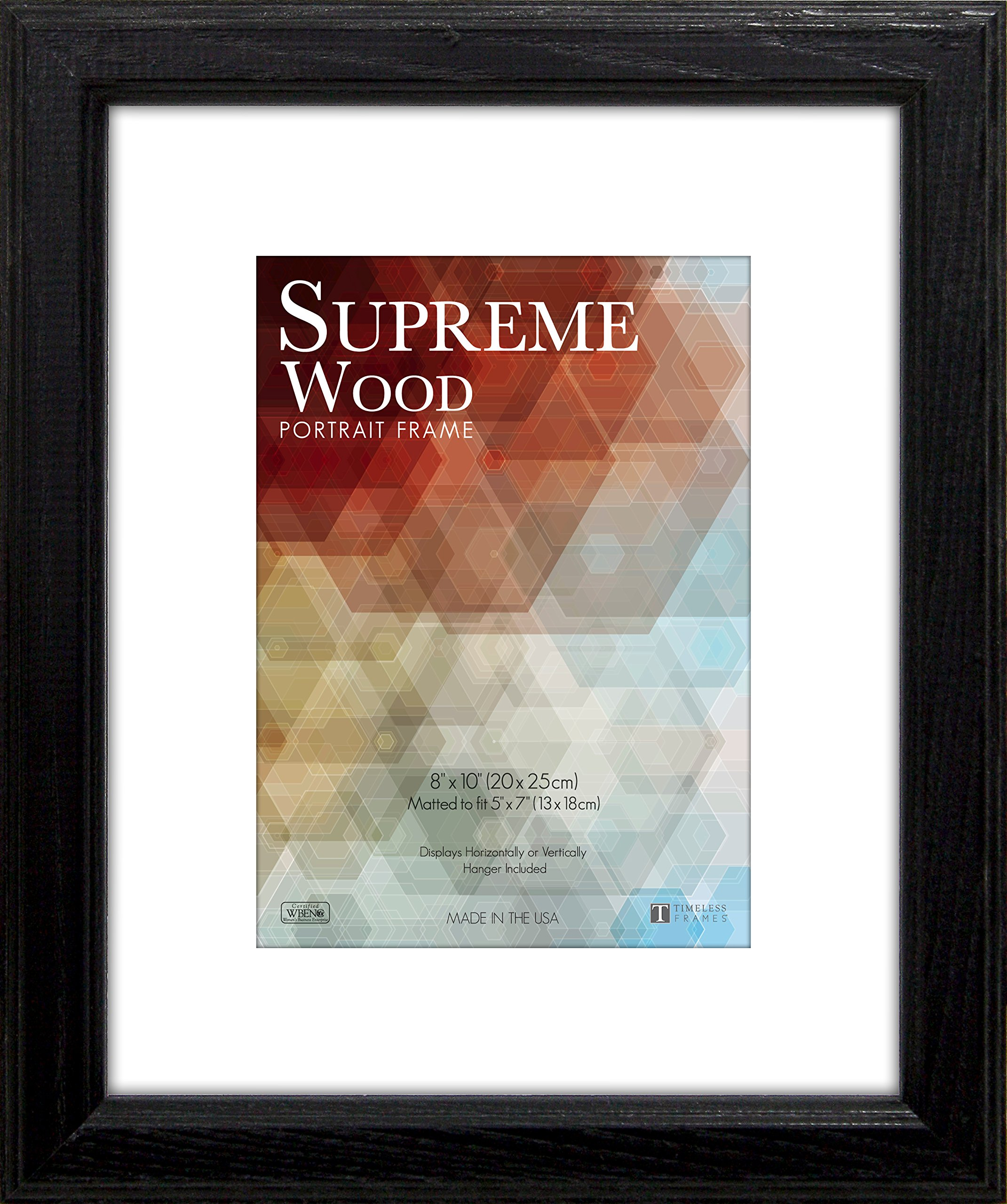 Timeless Frames 14x18 Inch Fits 11x14 Inch Photo Supreme Solid Wood Wall Frame, Black by Timeless Expressions