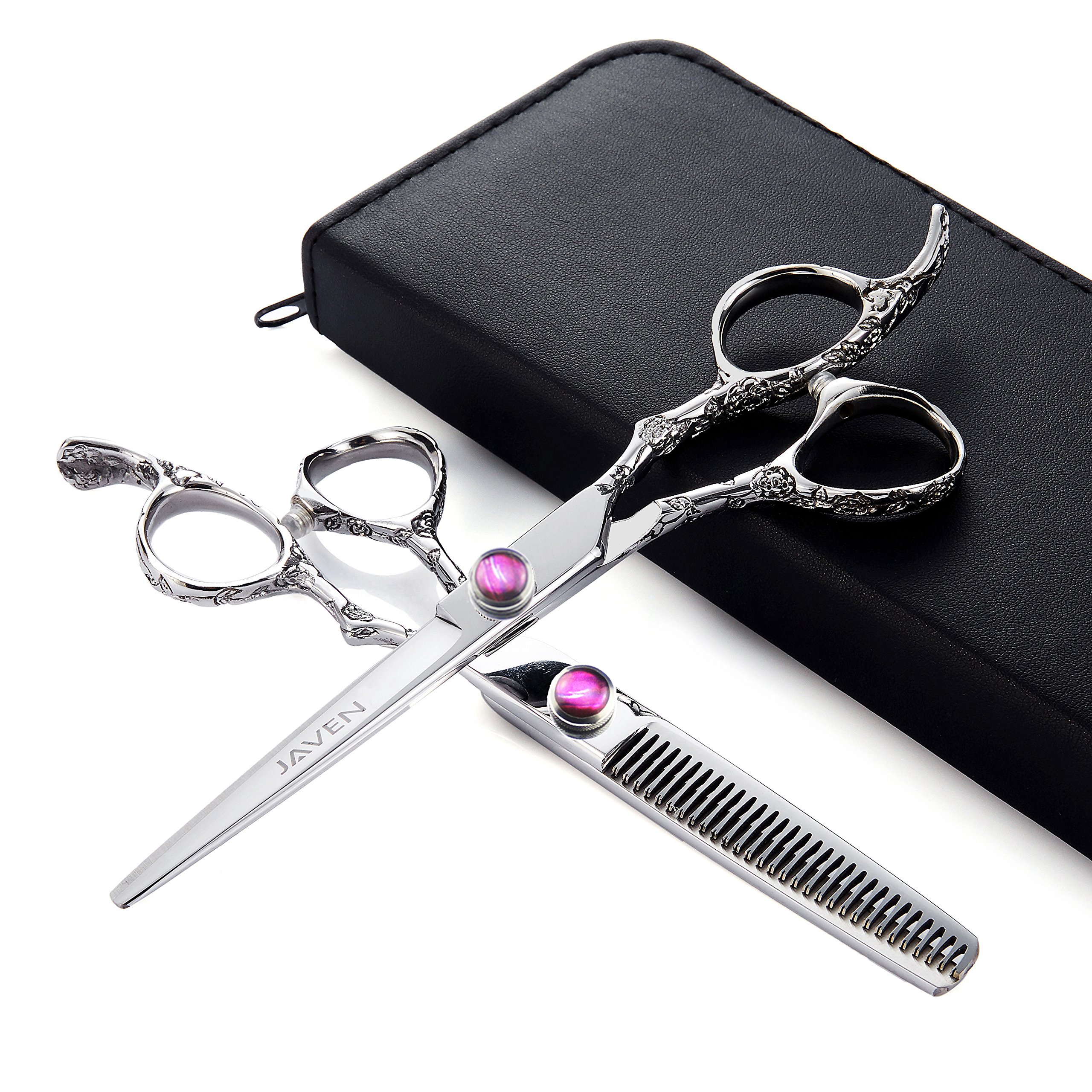 6 Inch Professional Hair Cutting Scissors Set Barber Hair Scissors Kit Hairdressing Hair Cutting Thinning Haircutting Scissors Japan 440c Stainless Steel