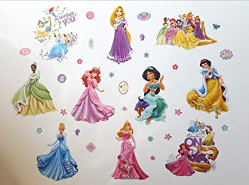 Kibi Disney Prinzessin Wandtattoo Kinderzimmer Prinzessin ...