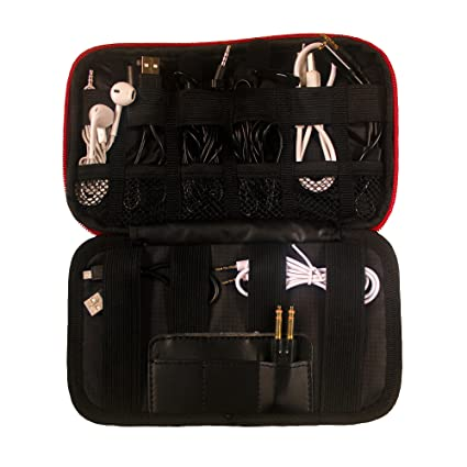 Small Travel Electronics, Vape Carrying Case U0026 Cables Organizer Bag   Tech  Storage For Chargers