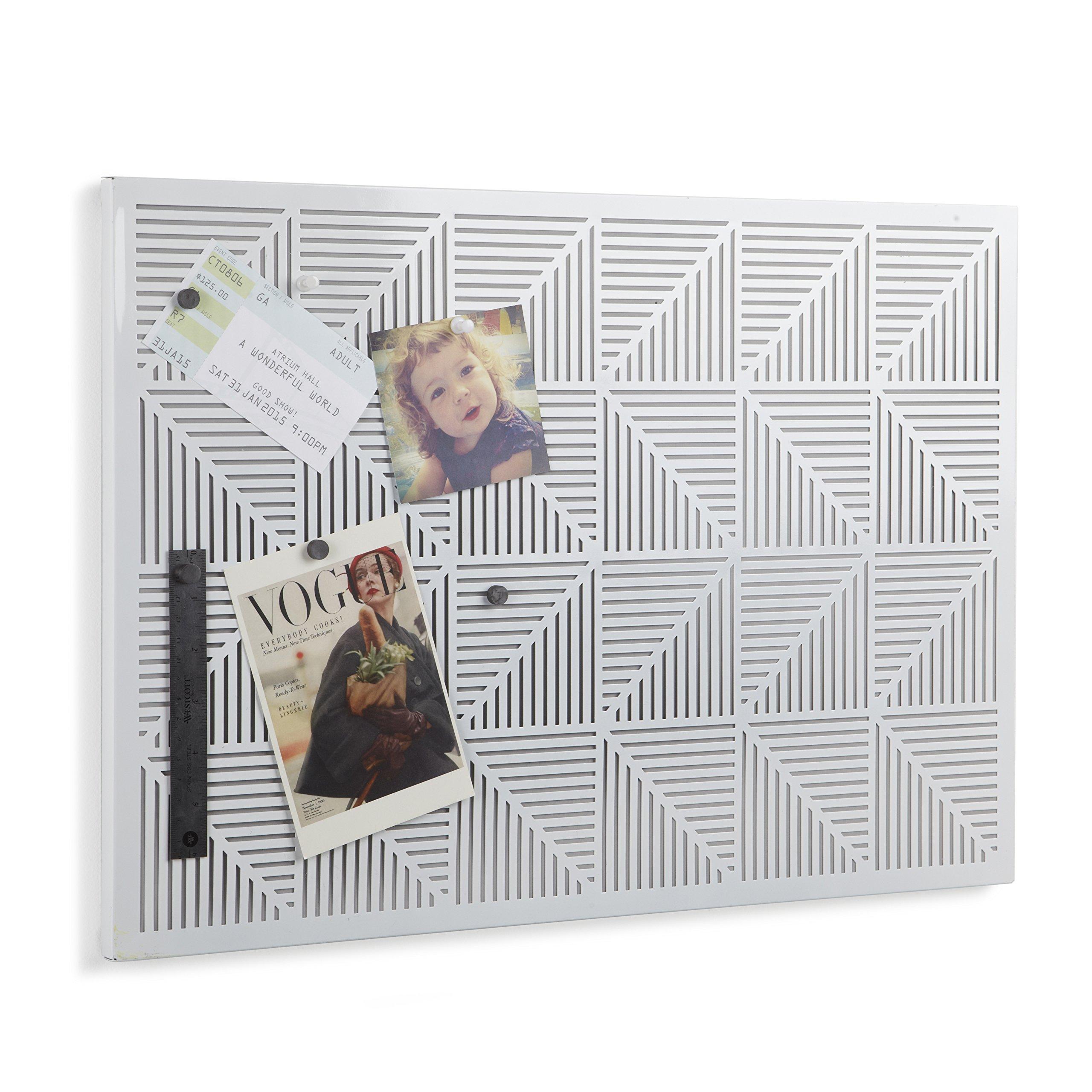 Umbra Trigon Metal Bulletin Board, White