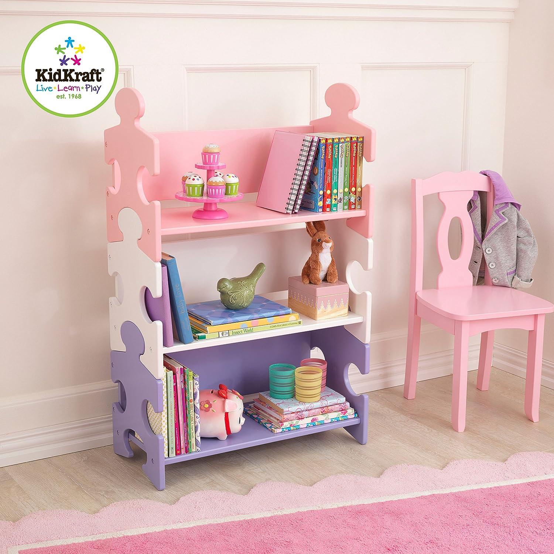 Amazon.com: KidKraft Puzzle Bookcase, Pastel: Toys \u0026 Games