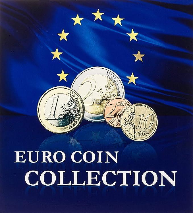 Estes EL numismates collectionner Album 120/Etui pour pi/èce pi/èce de monnaie livre pi/èce de monnaie Collection same red
