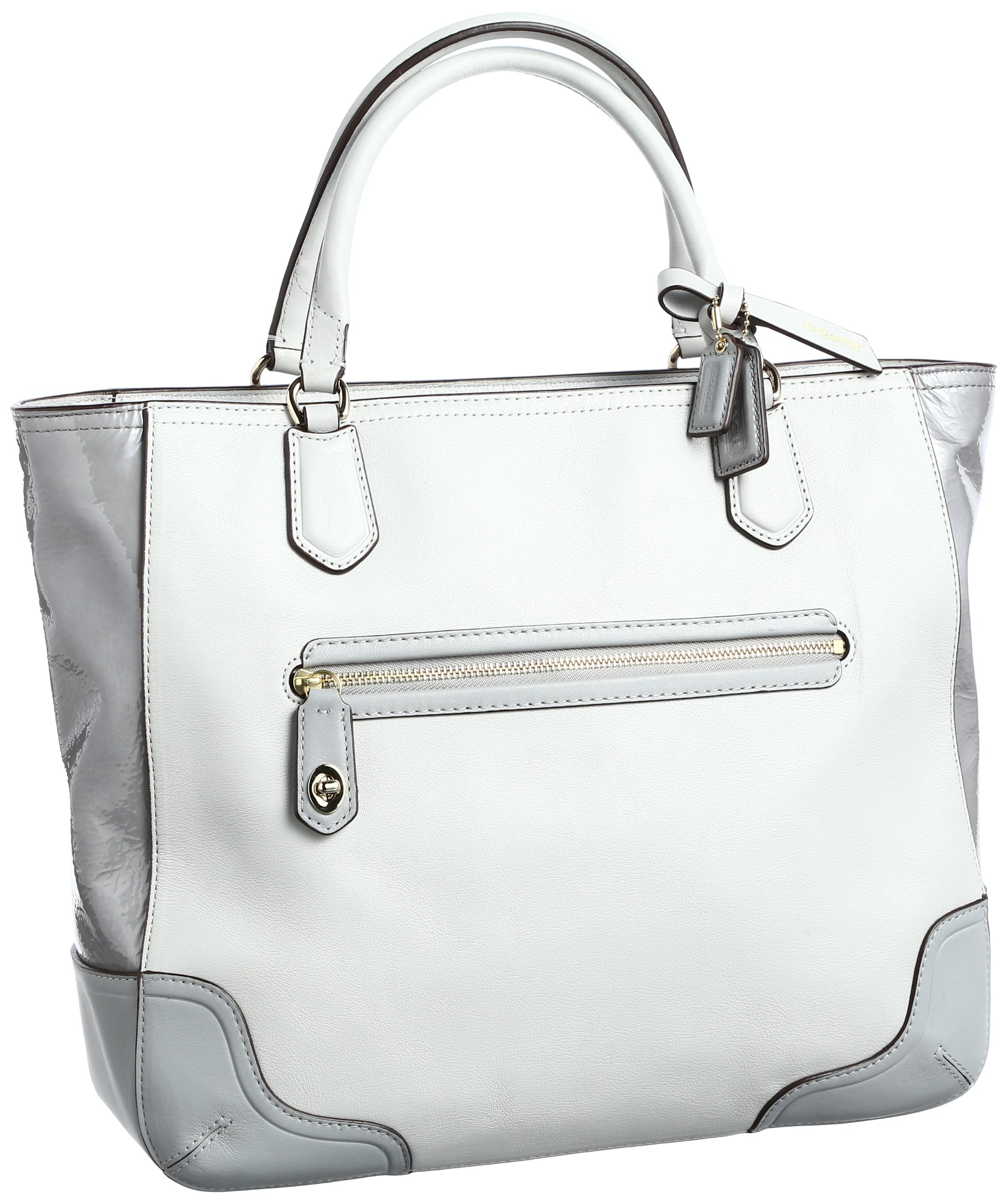 Coach Poppy Colorblock Leather Small Blaire Tote (Light Grey) by Coach (Image #1)