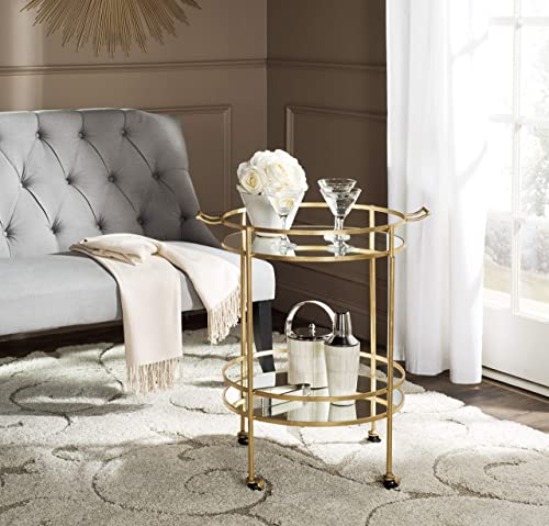 Safavieh Home Collection Lavinia Gold Bar Cart, Steel