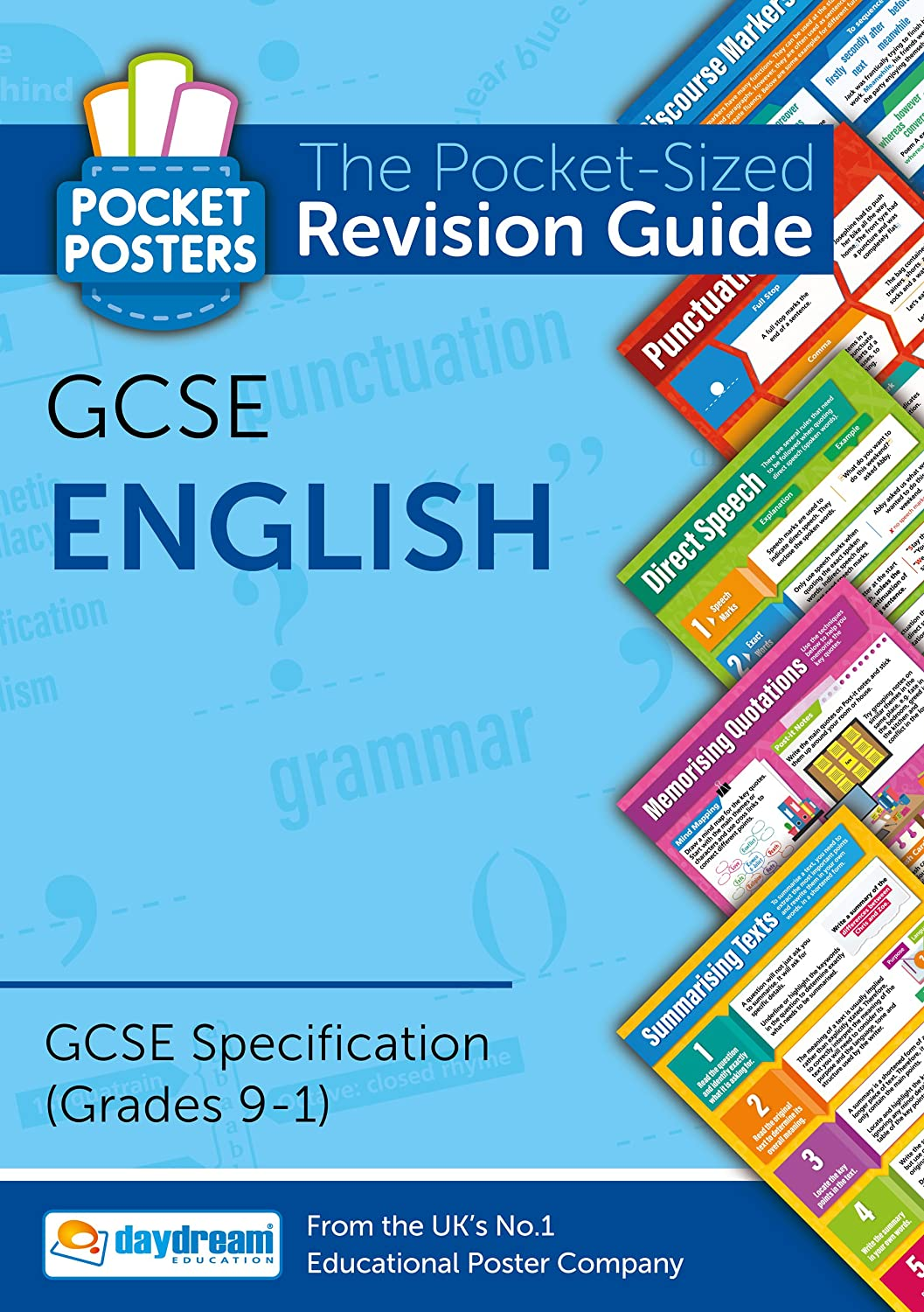 Poster design ks3 - Gcse English Pocket Posters The Pocket Sized Revision Guide