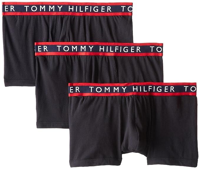 14d0daf7 Tommy Hilfiger Men's 3-Pack Cotton Stretch Trunk, Black, X-Large/
