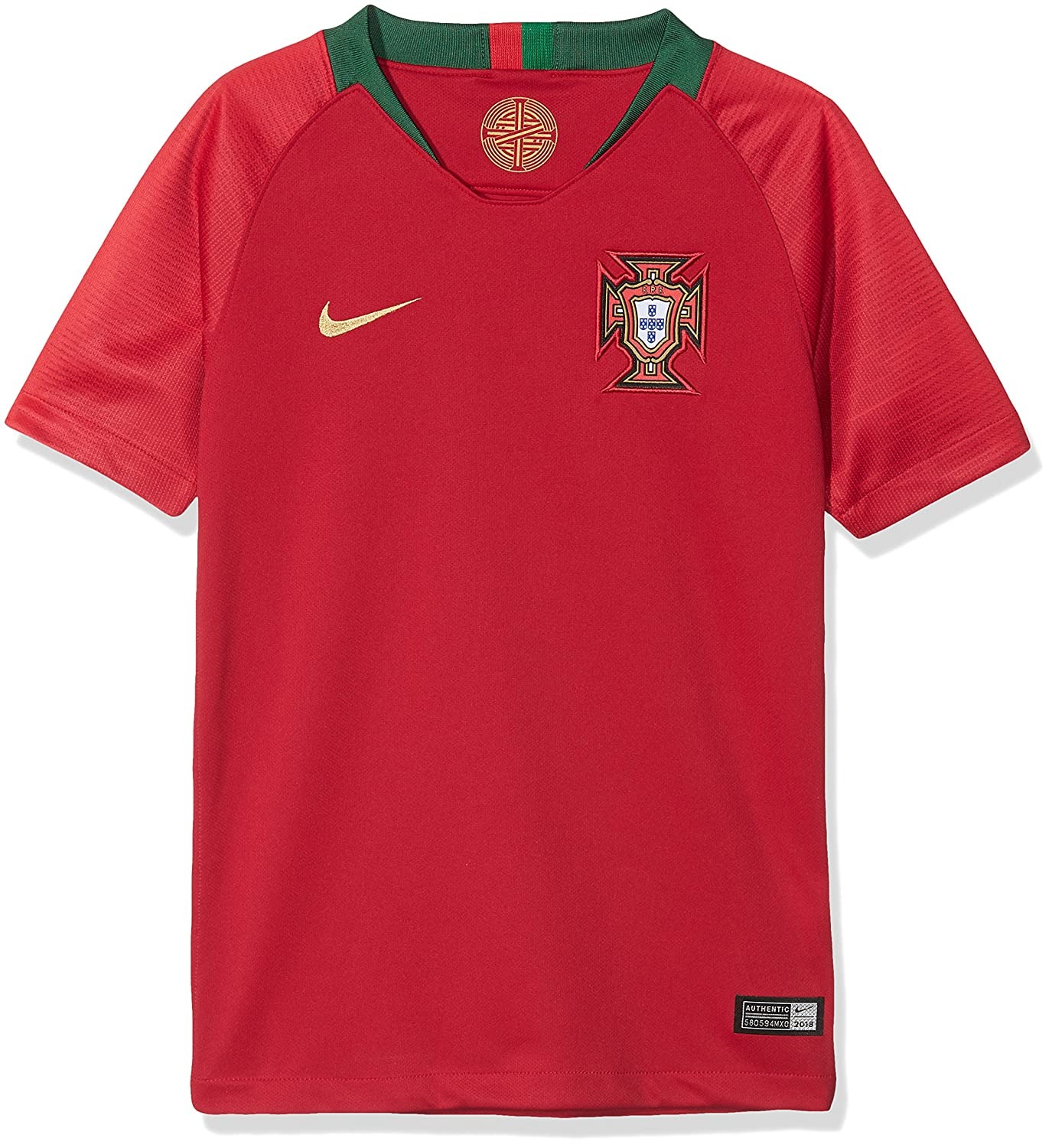 d8ee10db Amazon.com : Nike 2018 Portugal Stadium Home Youth : Sports & Outdoors