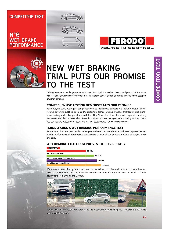 confezione 4 pezzi Premier Kit Pastiglie Freno Ferodo FDB4206 Freno A Disco -