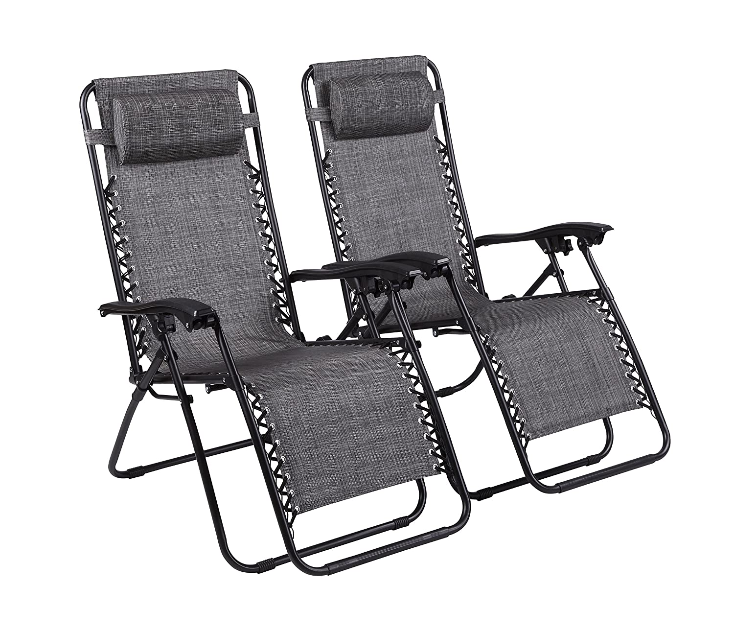 Amazon.com : Naomi Home Zero Gravity Lounge Patio Outdoor Recliner Chairs Gray/Set of 2 : Garden & Outdoor