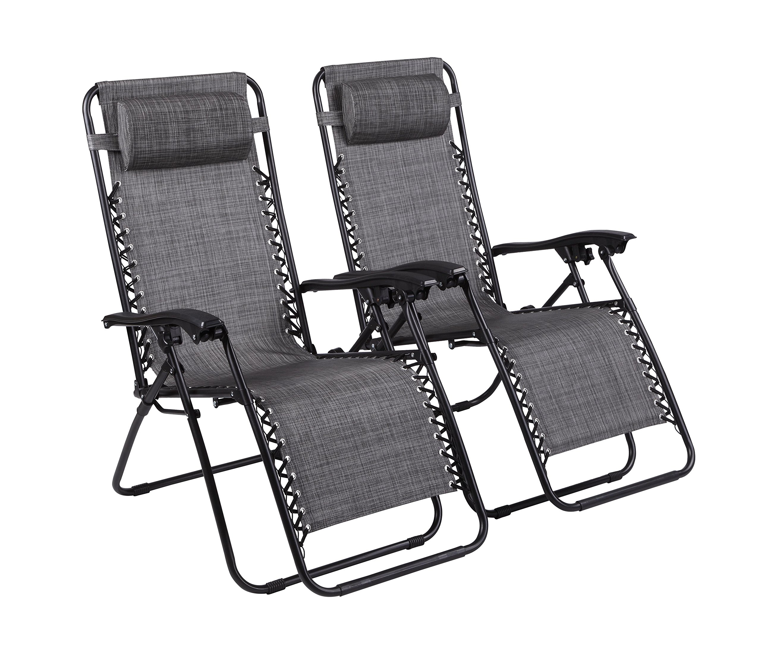 Naomi Home Zero Gravity Chairs Gray/Set of 2