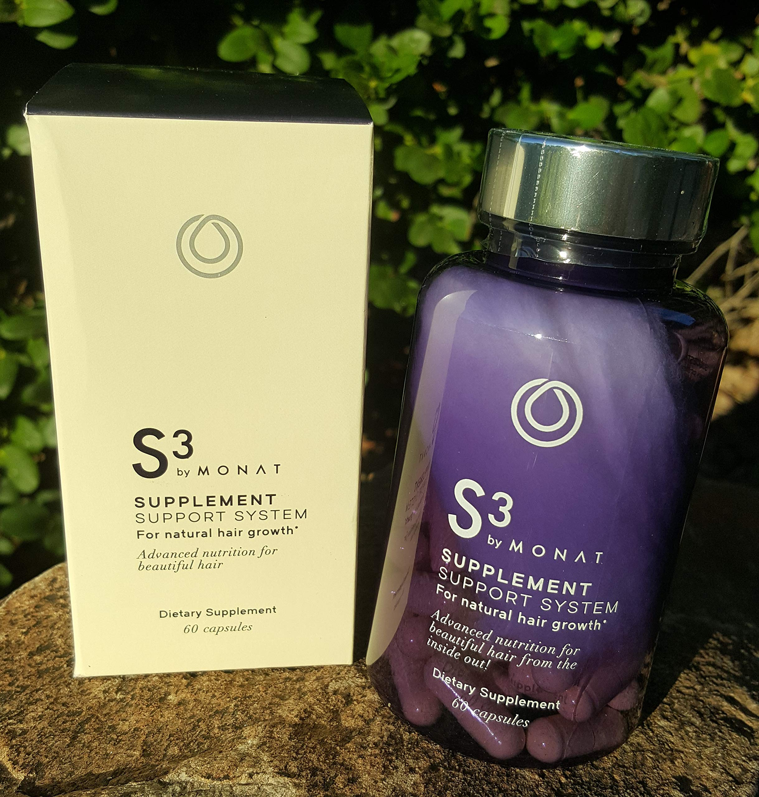 Monat Hair S3 Supplement Support System for Natural Hair Growth (60capsules)