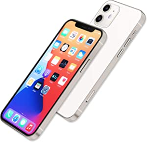 [Full Metal] Dummy Phone Display Model Compatible with Apple iPhone 12 Pro Max 12 Mini Non-Working Upgraded Metal Frame (12mini White colorscreen)