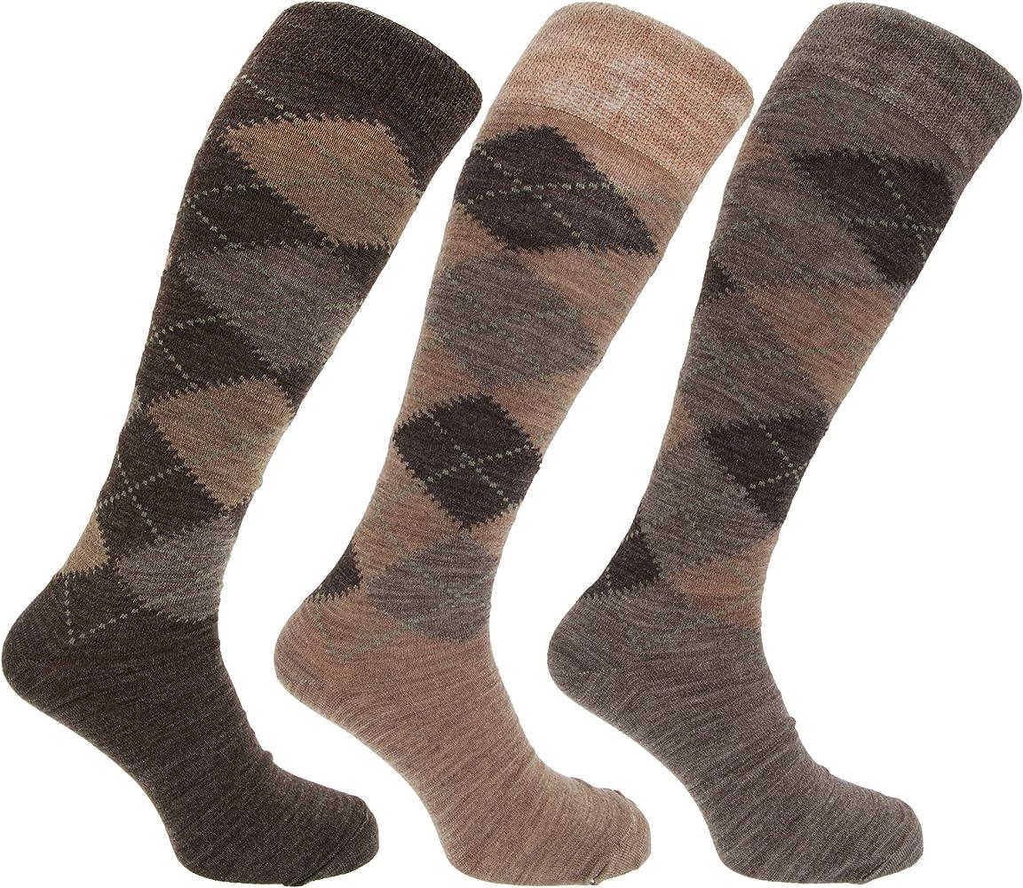 Pack de 3 pares de calcetines largos para hombre, de lana de ...